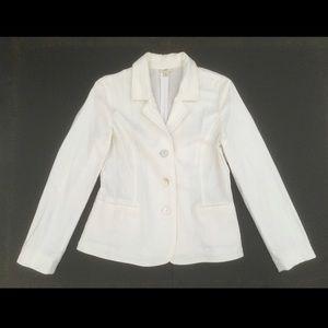 J Jill Blazer Jacket Long Sleeve 3 Shell Button